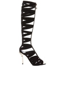 """VERSACE <div class=""""product_name"""">Suede Gladiator Heels</div>"""