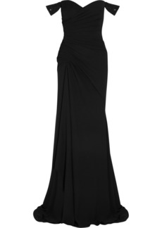 Versace Embellished silk-chiffon gown