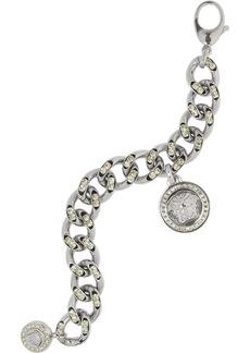 Versace Embellished silver-tone bracelet