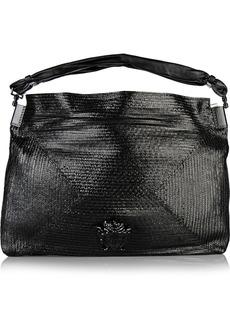 Versace Glossed raffia shoulder bag