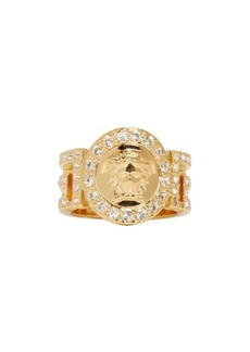Versace Gold Greek Key Cut-Out Medusa Ring