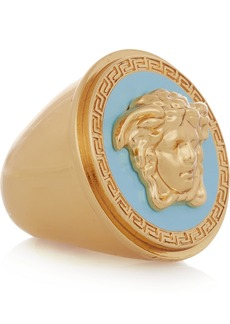 Versace Gold-tone and enamel ring