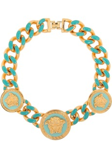 Versace Gold-tone enamel necklace