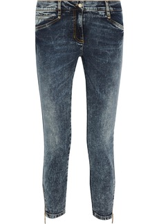 Versace Jeans Distressed mid-rise skinny jeans