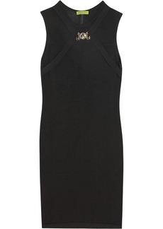 Versace Jeans Embellished stretch-jersey dress