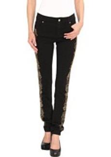 Versace Jeans Floral Embellished Skinny Fit Denim