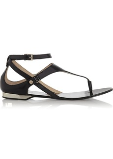 Versace Jeans Glossed-leather sandals