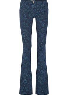 Versace Jeans Printed stretch-canvas flared pants