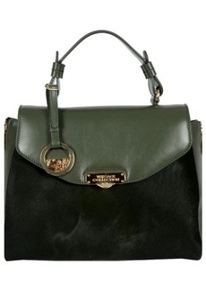 Versace Leather and Pony Hair Ladies Satchel Handbag