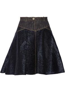Versace Metallic cotton-blend and woven skirt