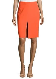 Versace Mid-Rise Pencil Skirt, Orange