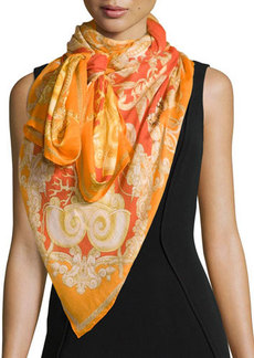 Versace Ornamental-Print Shawl, Multi Colors