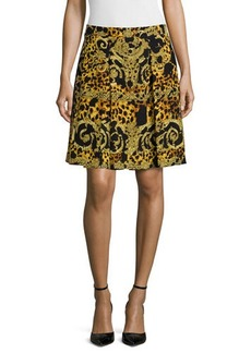 Versace Printed A-Line Skirt, Gold