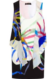 Versace Printed crepe de chine dress
