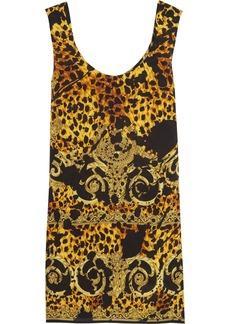 Versace Printed silk dress
