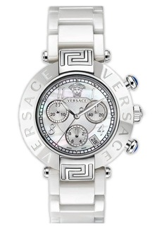 Versace 'Reve Chrono' Ceramic Bracelet Watch, 40mm