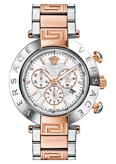 Versace 'Reve' Two-Tone Chronograph Bracelet Watch, 46mm
