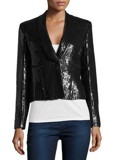 Versace Sequin Blazer, Nero