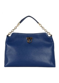 Versace Shoulder Bag with Leather and Chain