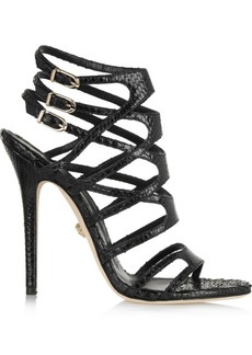 Versace Snake-effect leather sandals
