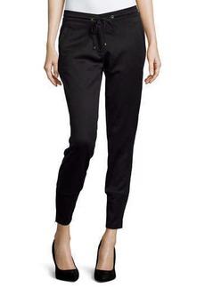 Versace Straight-Leg Jogger Pants, Black