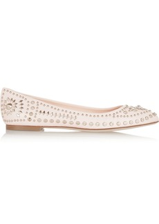Versace Studded leather ballet flats