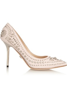 Versace Studded leather pumps