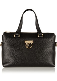 Versace Collection Textured-leather tote