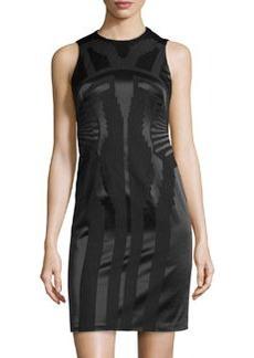 Versace Tonal Jacquard Sheath Dress
