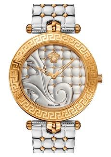 Versace 'Vanitas' Quilted Bracelet Watch, 40mm