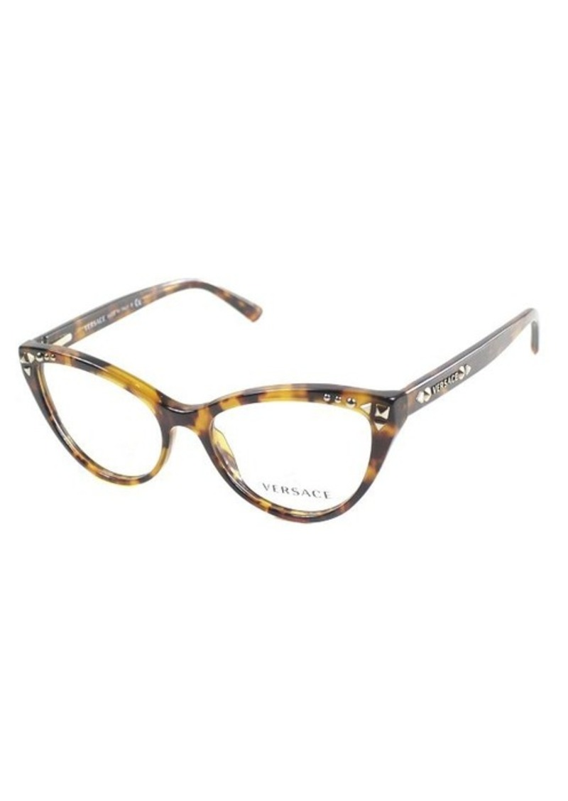 Versace Glasses Frames Cat Eye : Versace Versace VE 3191 5074 Havana Plastic Cat Eye ...