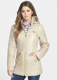 Via Spiga 4-Pocket Quilted Jacket with Detachable Hood