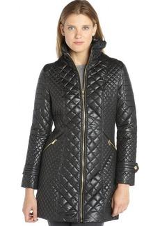 Via Spiga black diamond-quilted jacket
