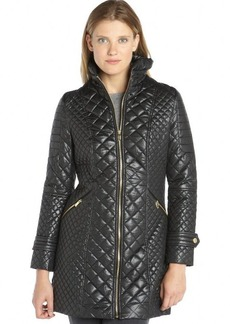 Via Spiga black diamond-quilted jacket