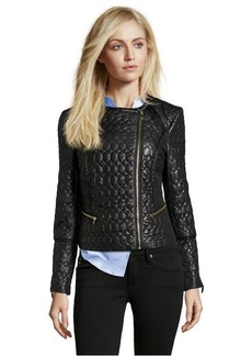 Via Spiga black woven quilted short jacket