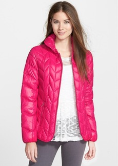 Via Spiga Chevron Quilted Packable Down Jacket