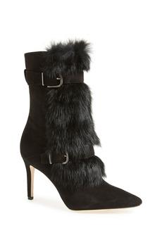 Via Spiga 'Chiaki' Suede & Genuine Rabbit Fur Boot (Women)