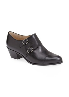 Via Spiga 'Cielo' Leather Monk Strap Bootie (Women)