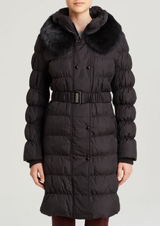 Via Spiga Coat - Belted Fur Collar