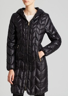Via Spiga Coat - Chevron Quilted Hooded Down