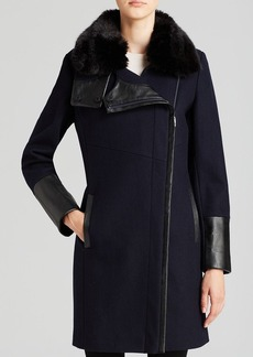 Via Spiga Coat - Faux Fur Collar