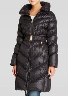 Via Spiga Coat - Pillow Collar Belted