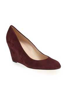 Via Spiga 'Darby' Covered Wedge Almond Toe Pump (Women)