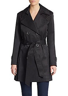 Via Spiga Diamond-Print Trench Coat
