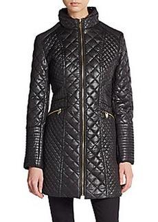 Via Spiga Diamond Quilted Puffer Coat