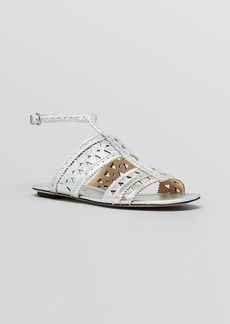 Via Spiga Flat Perforated Sandals - Idoma
