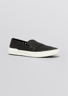 Via Spiga Flat Slip On Perforated Sneakers - Gingi