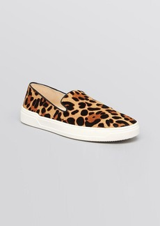 Via Spiga Flat Slip On Sneakers - Galant Leopard Print