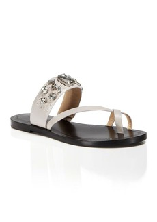 Via Spiga Flat Thong Sandals - Gwenda Jeweled