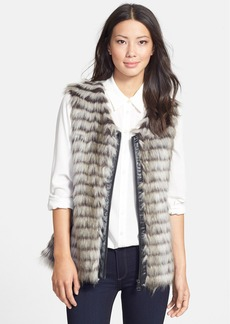 Via Spiga Front Zip Faux Fur Vest